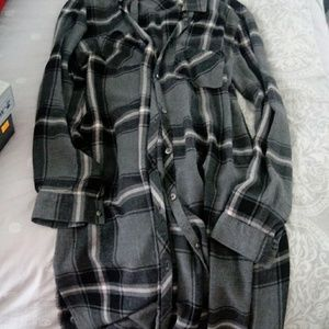 Long flannel shirt/cover/dress